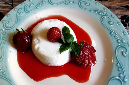 Strawberries Panna Cotta 020